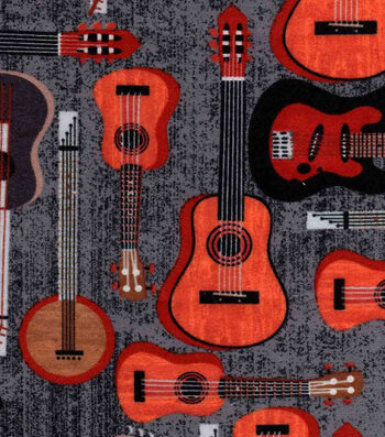 """Snuggle Flannel Fabric 42""""-Natural Guitar"""