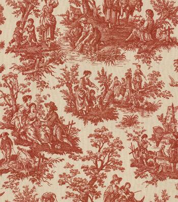 "Waverly Upholstery Fabric 54""-Country Life Garnet"