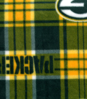 Green Bay Packers Fleece Fabric 58''-Plaids