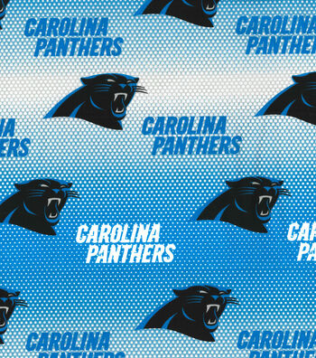 "Carolina Panthers Cotton Fabric 58""-Mini Dot"
