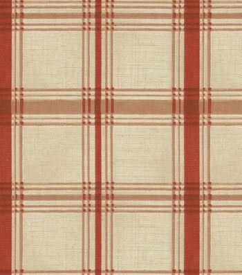 "Waverly Upholstery Fabric 54""-Pantry Plaid Crimson"