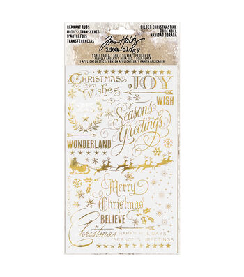 Tim Holtz Idea-ology Paperie Remnant Rubs-Gilded Christmas