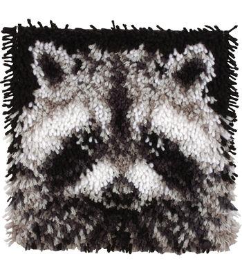 "Wonderart Latch Hook Kit 12""X12""-Raccoon"