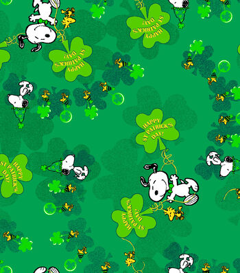 Holiday Inspirations™ St. Patrick's Day Fabric 43''-Peanuts
