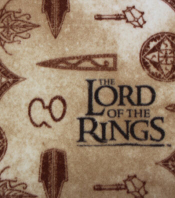 "Lord of the Rings Fleece Fabric 58""-Symbols"