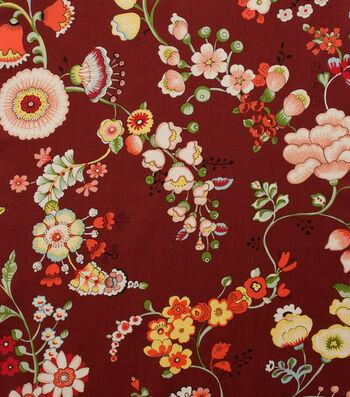 """Alexander Henry Cotton Fabric 44""""-Speranza Brick Red"""