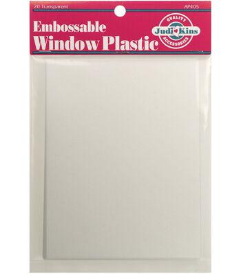 """Judikins Embossable Window Plastic Sheets 4.25""""x5.5"""""""