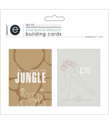 Empire Bebe Building Cards 54/Pkg-Quotes