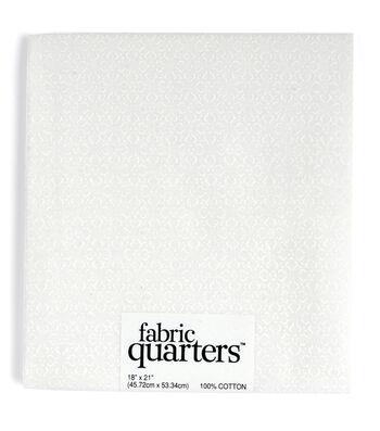 "Fabric Quarters Cotton Fabric 18""-Assorted White"