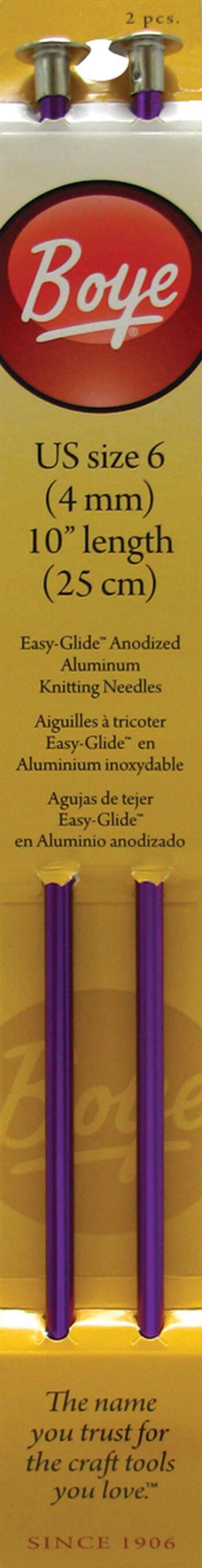 "Single Point Aluminum Knitting Needles 10""-Size 6/4mm"