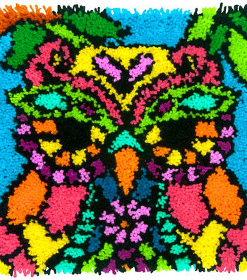 "Colorful Latch Hook Kit 16""X16""-Owl"