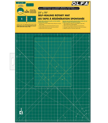 """Olfa Gridded Cutting Mat Set with Clips 23"""" x 70"""""""