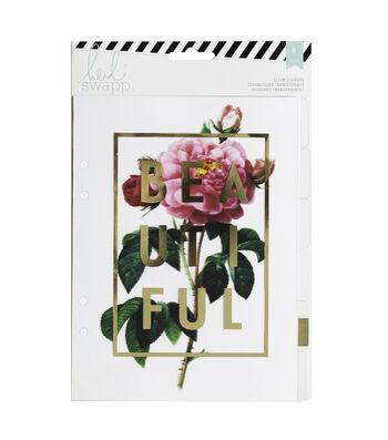 Heidi Swapp Memory Planner Large Dividers 6/Pkg-Clear W/Foil Printed Design