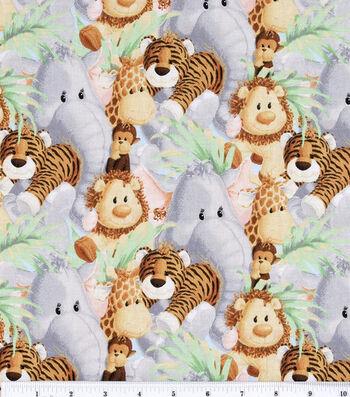 Jungle Babies Nursery Cotton Fabric 44''-Animals