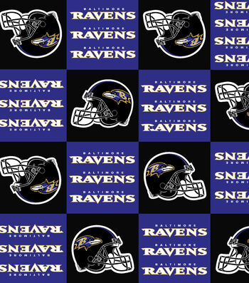 "Baltimore Ravens Fleece Fabric 58""-Block"