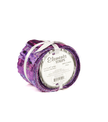 "Jelly Roll Cotton Fabric 2.5""-Purple"