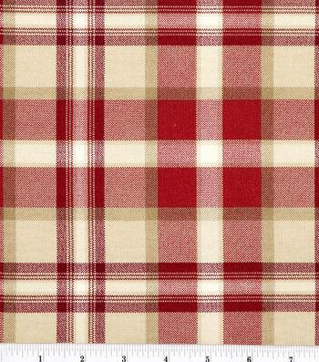"Home Essentials Lightweight Decor Fabric 45""-Ethan/Red"