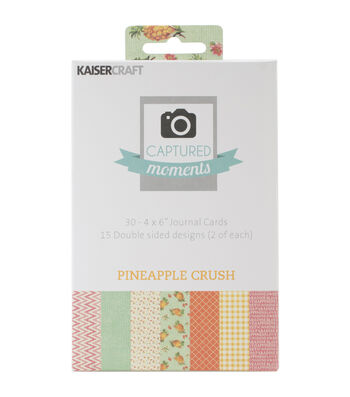 """Captured Moments Double-Sided Cards 6""""X4"""" 30/Pkg-Pineapple Crush"""