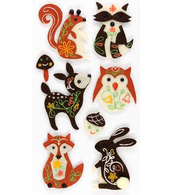 Jolee's Boutique® Felt Stickers-Woodland Animals