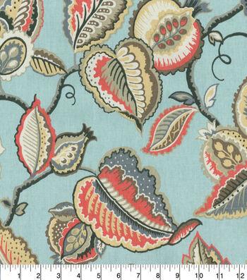 Waverly Upholstery Fabric 54''-Fantasy Fleur on Sea Glass