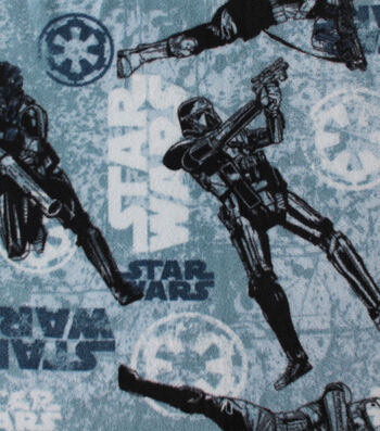 """Star Wars™ Rogue One Fleece Fabric 58""""-Imperial Texture"""