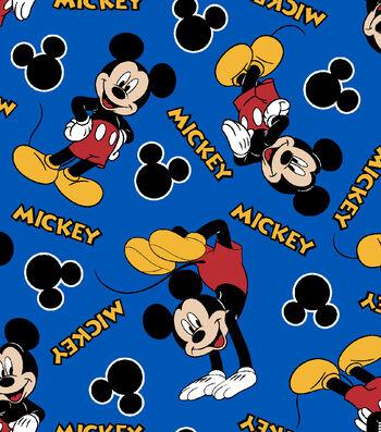 "Disney Mickey Mouse Cotton Fabric 43""-1928"