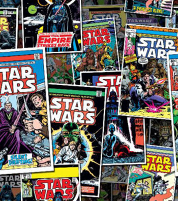 Star Wars™ Cotton Fabric 44''-Comic Book Covers