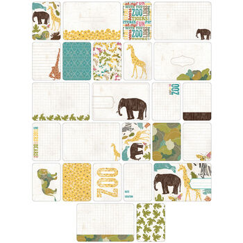 Project Life Themed Cards 40/Pkg-Animals