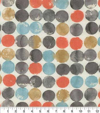 Waverly Upholstery Fabric 54''-Mimosa Watercolor Circles