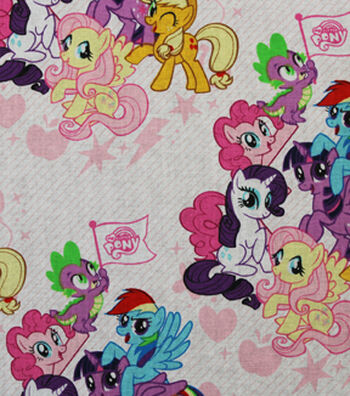 """My Little Pony Packed Friends Cotton Fabric 44"""""""