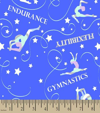 Gymnastics Print Fabric