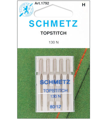 Schmetz Topstitch Machine Needles 5/Pk-Size 12/80