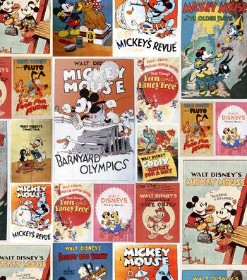 "Disney Mickey & Minnie Cotton Fabric 43""-Poster"