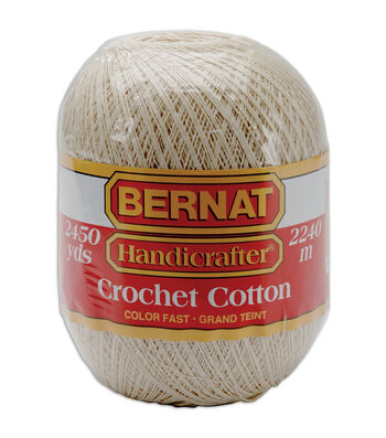 Bernat Handicrafter Crochet Cotton-Ecru