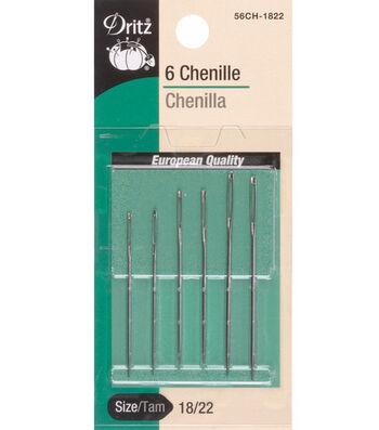 Dritz Chenille Hand Needles 6pcs Size 18/22
