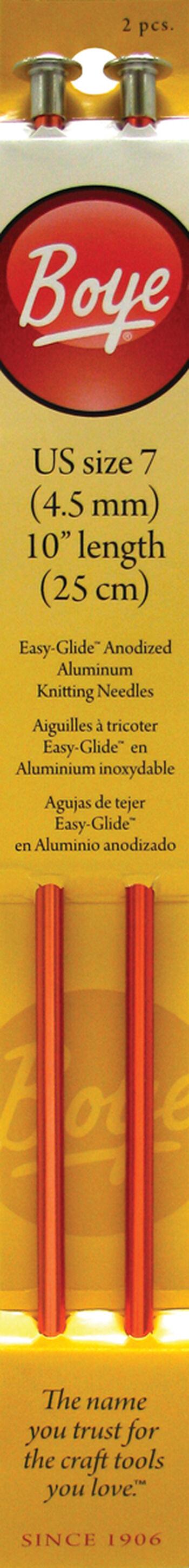 "Single Point Aluminum Knitting Needles 10""-Size 7/4.5mm"