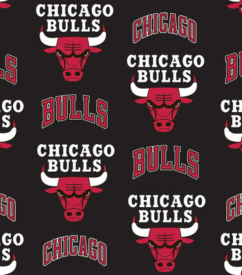 "Chicago Bulls Fleece Fabric 58""-Tossed"
