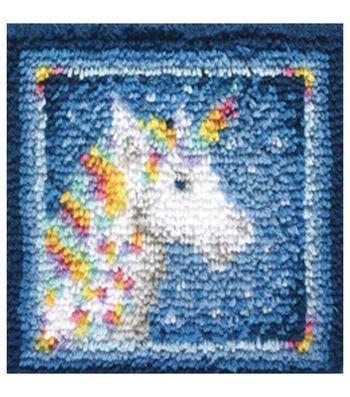 """Wonderart Latch Hook Kit 12""""X12""""-Unicorn"""