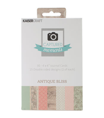 """Captured Moments Double-Sided Cards 6""""X4"""" 30/Pkg-Antique Bliss"""