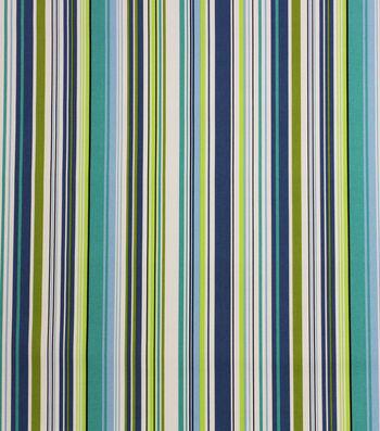 Solarium Outdoor Print Fabric 54''-Portstripe Lagoon
