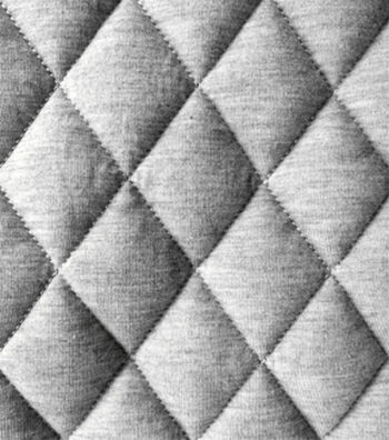 """Varsity Club Quilted Knit Fabric 55""""-Grey"""