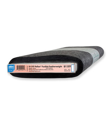 """Pellon® 911FF Fusible Featherweight, Charcoal, 20"""" width, by-the-yard"""