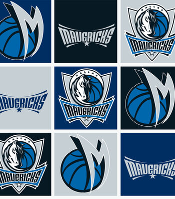 "Dallas Mavericks Fleece Fabric 58""-Block"