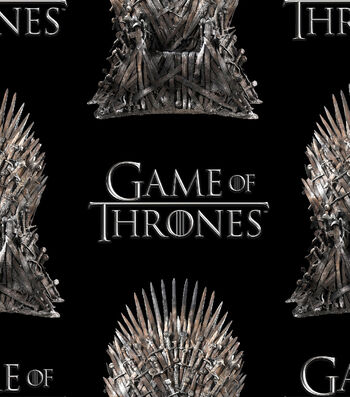 """Game of Thrones Cotton Fabric 43""""-The Iron Throne"""