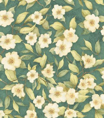 "Susan Winget Premium Cotton Fabric 44""-Dogwoods"