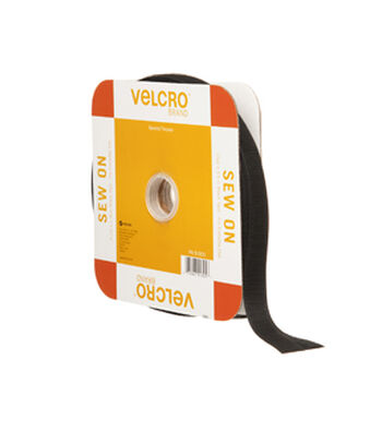 VELCRO® Brand Sew On 30ft x 3/4in Tape, Black, Flange