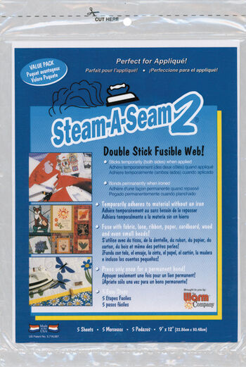 Steam-A-Seam 2 Double Stick Fusible Web 5/pkg
