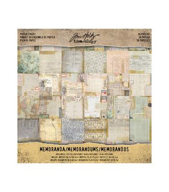 Tim Holtz® Idea-ology® Pack of 36 Memoranda Paper Stash