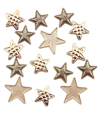 Buttons Galore Silver Stars Buttons