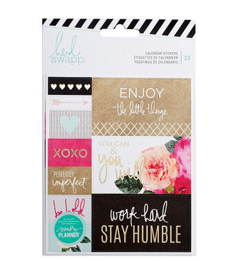 Heidi Swapp Memory Planner 20 Pack 4.65''x5.45'' Sticker-Calendar